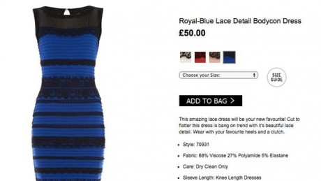 Here's the dress as advertized