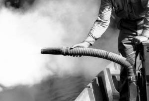 Picture of mosquito fogging, courtesy of CDC.