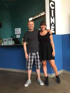 Jon and me outside of Ciné after our talks! PC: Chris Parsons
