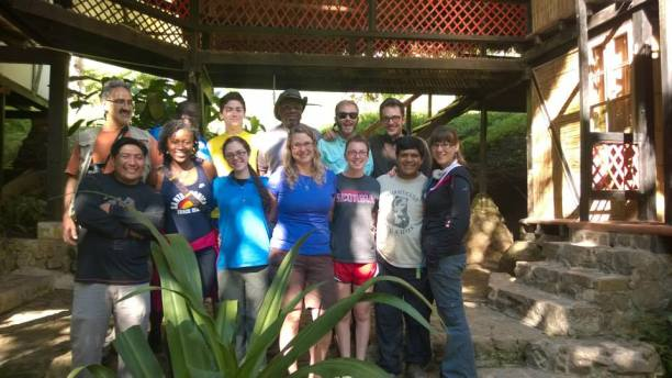 Last year's Ecuador Term abroad students and staff from Maquipucuna.