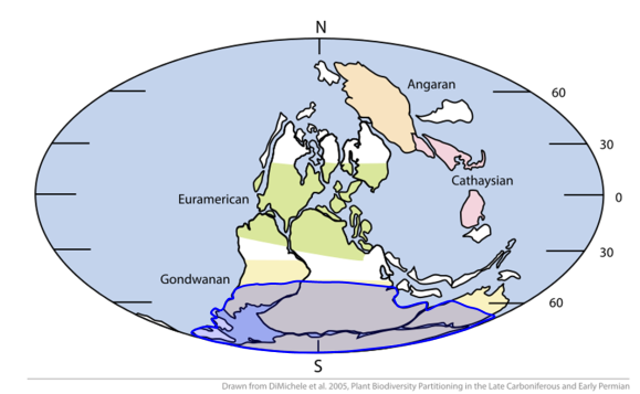 The spread of the ice sheets in the Ice Age PC: