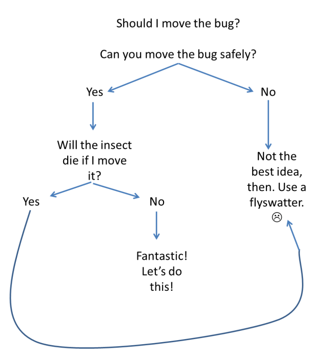 Moving bugs flowchart