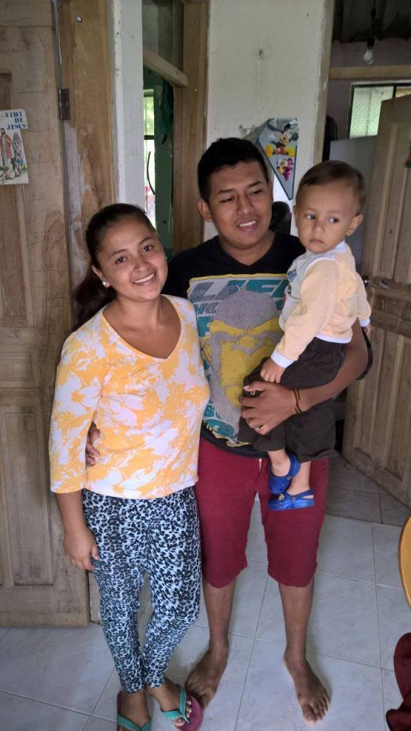 Here's my friend's sister-in-law, her son, and her husband who made the trip to my friends house to get out of the affected area.