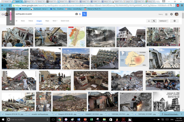 Of course just a quick Google search will show you the devastation that wreaked the coastline of the country.